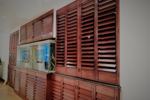 stain shutters by fishtank